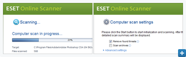 ESET Online Scanner Screenshot Gallery